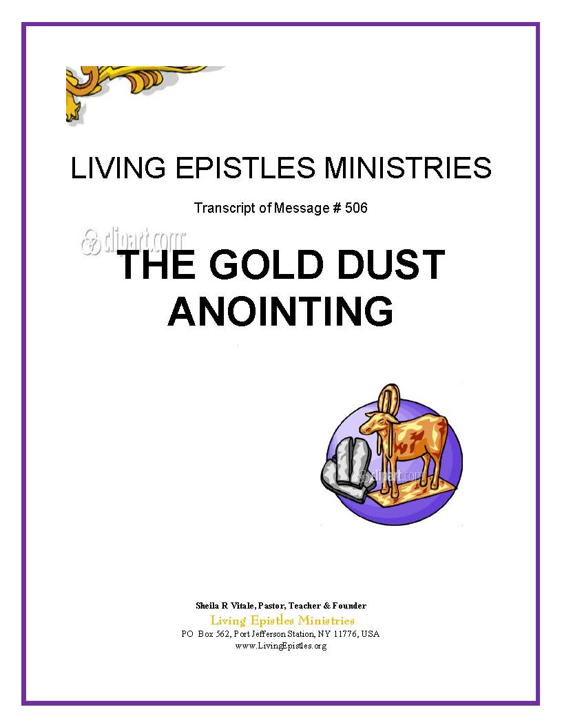 Gold Dust Anointing 022216 Cover